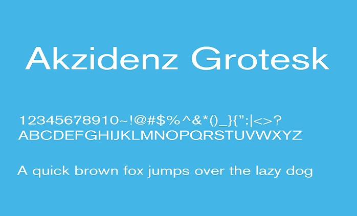 Akzidenz Grotesk Font Family Free - Download Fonts
