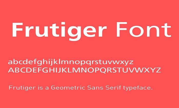 Frutiger Font Free Download Fonts