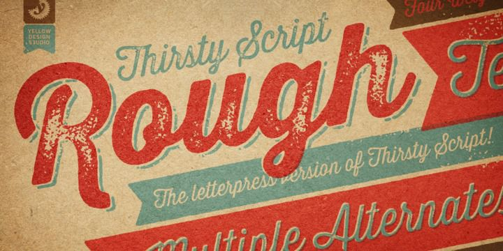 thirsty script rough font free download