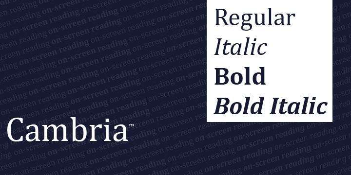 Cambria Font Family Free - Download Fonts