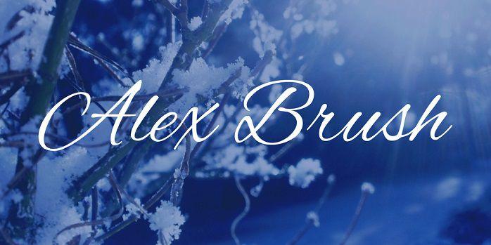 Alex Brush Font Family Free