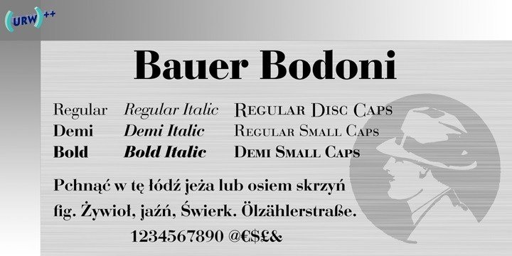 Bauer Bodoni Font Family Free - Download Fonts