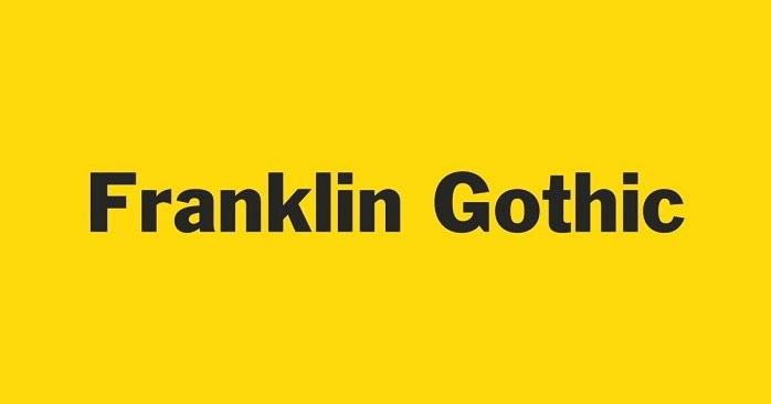 franklin gothic font free download mac