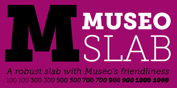 Museo Slab Font Family Free