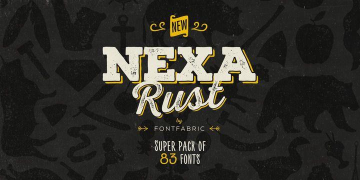Nexa Rust Font Family Free