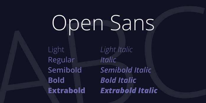 Open Sans Font Family Free - Download Fonts