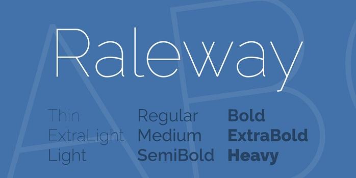 Raleway Font Family Free
