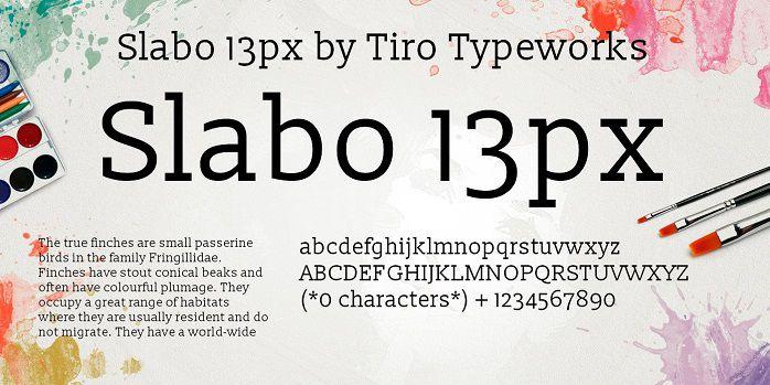 Slabo 13px Font Free