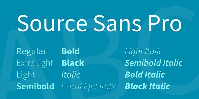 Source Sans Pro Font Family Free