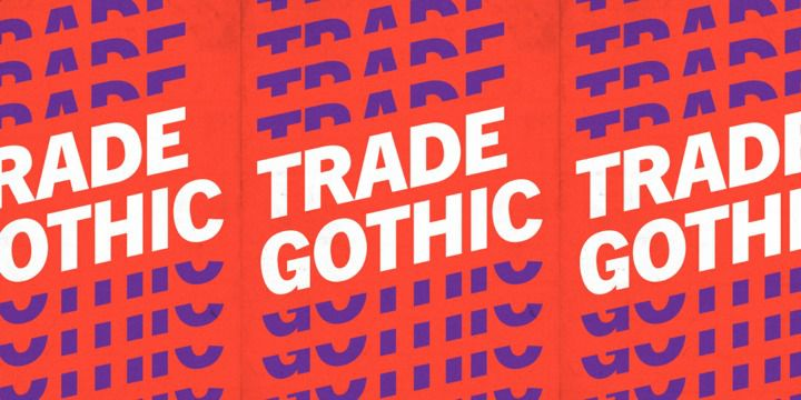 Trade Gothic Font Family Free Download Fonts