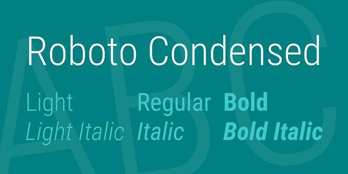 Roboto Condensed Font Family Free