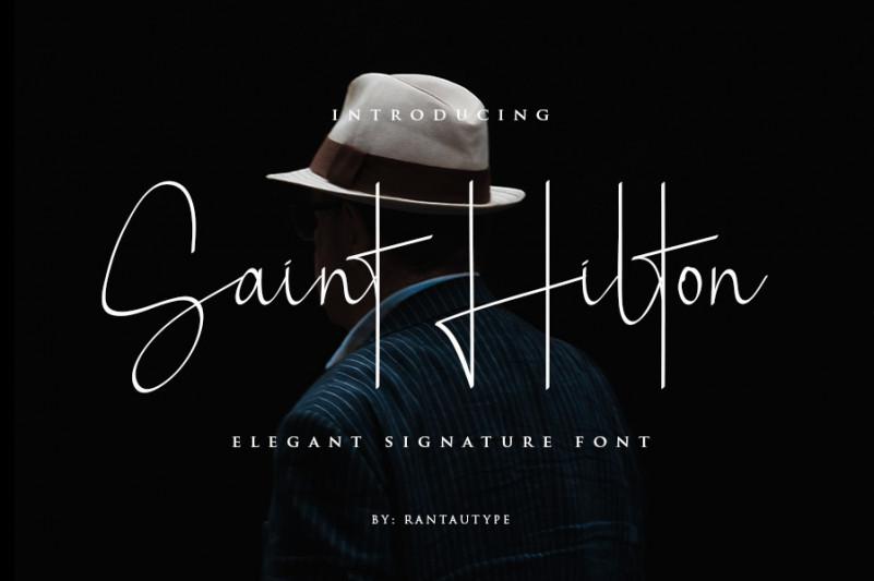 saint-hilton-signature-font