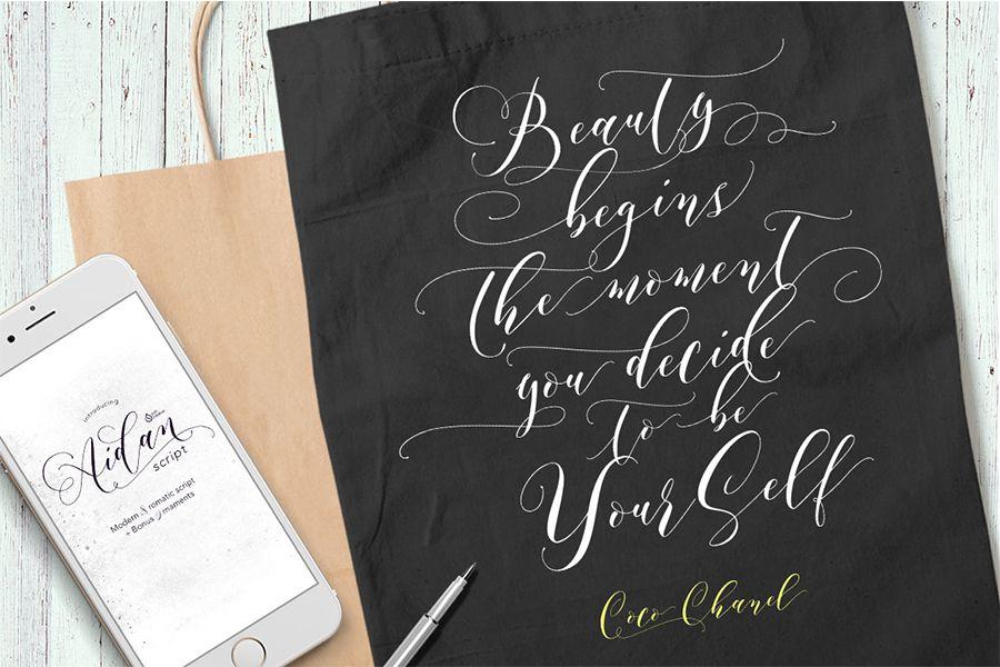 Aidan Romantic Script Font-2