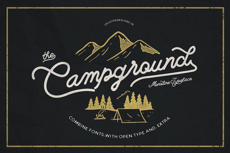 Campground Monoline Script Font