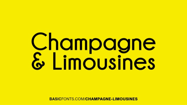 download-champagne-limousines-font-1-638