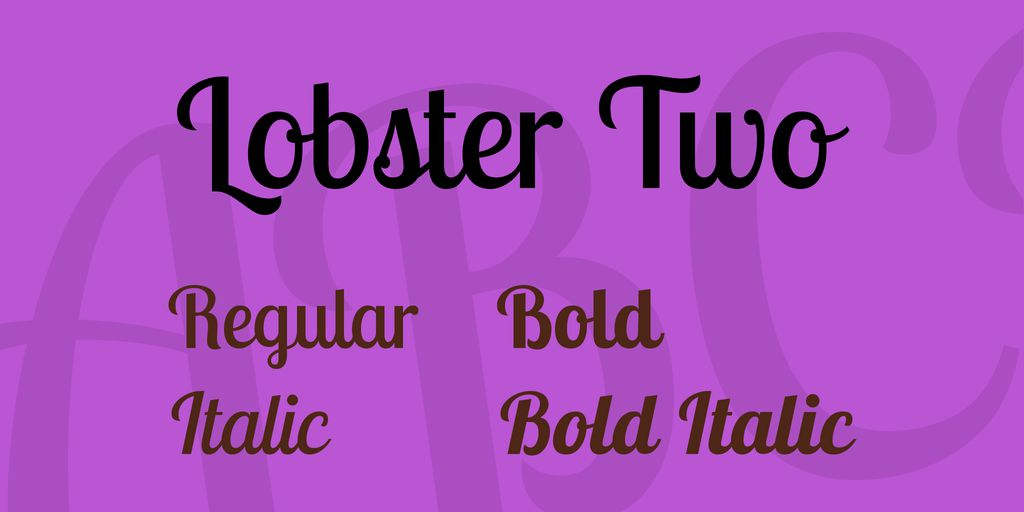 lobster-two-font-1