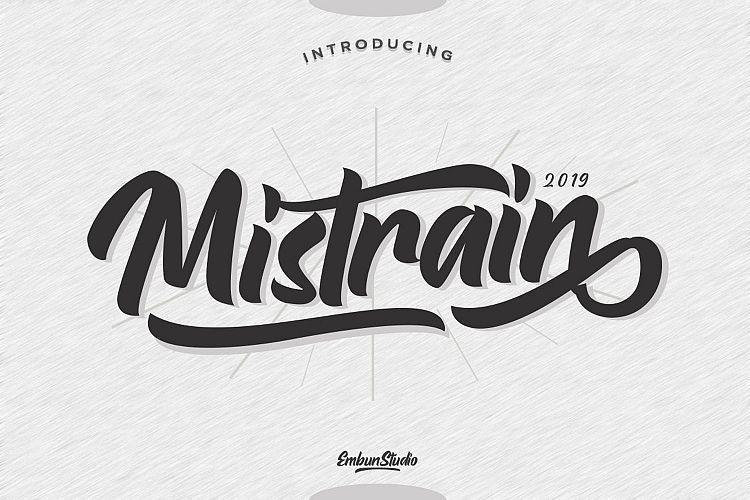 mistrain-script-font-1