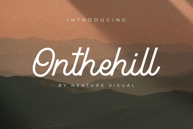 Onthehill-Monoline-Script-Font