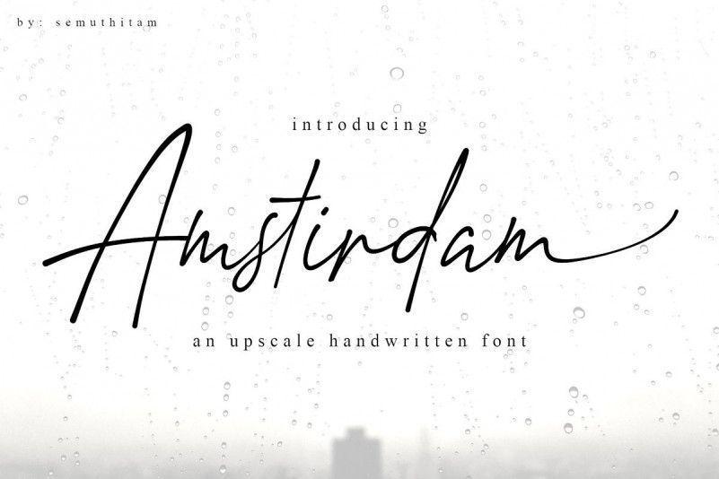 amstirdam-handwritten-script-font