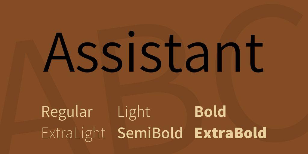 assistant-font