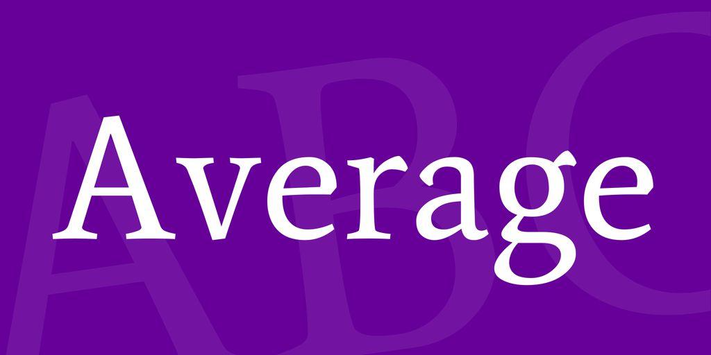 average-font