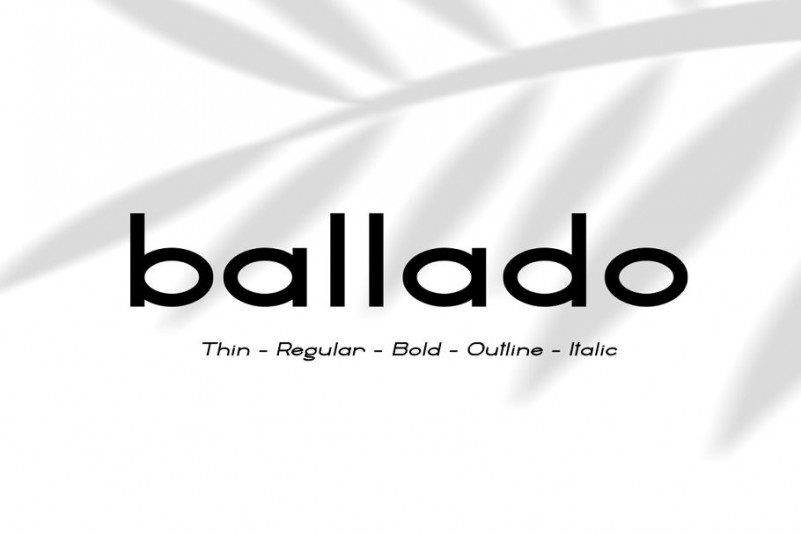 ballado-geometric-sans-font