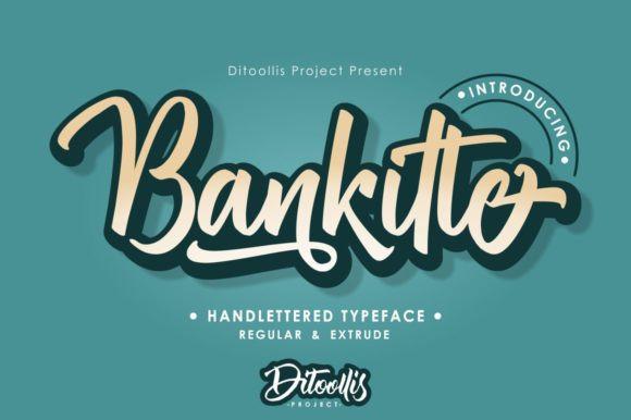 bankitte-handlettered-font