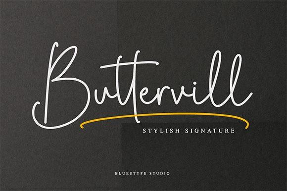 Buttervill Font