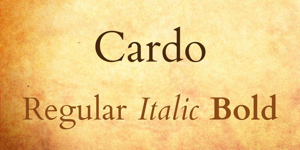 cardo-font