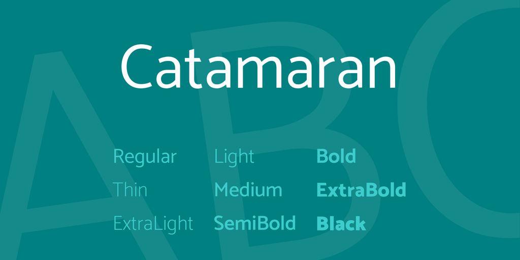 catamaran-font