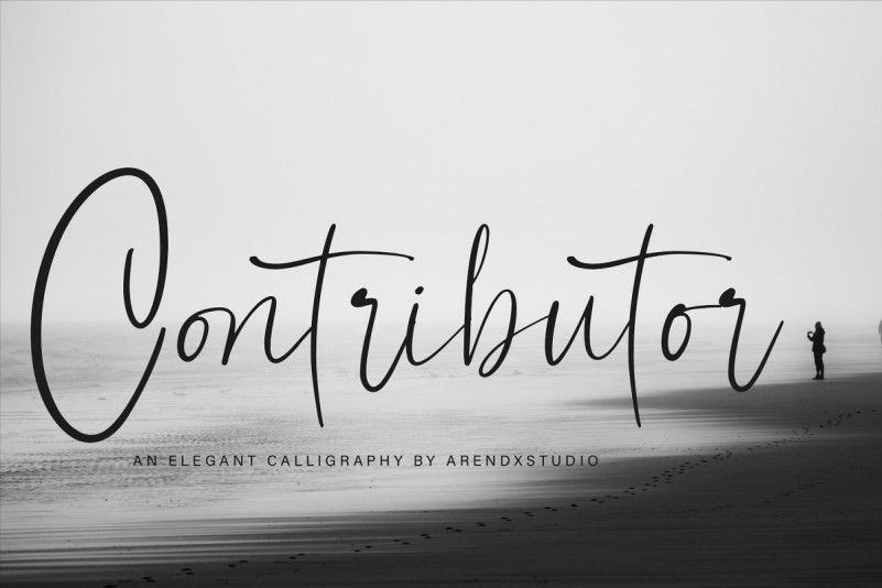 contributor-calligraphy-font-1