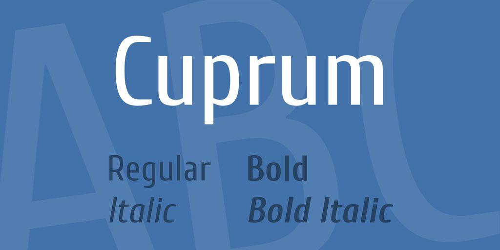 cuprum-font