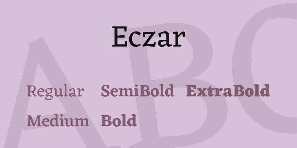 eczar-font