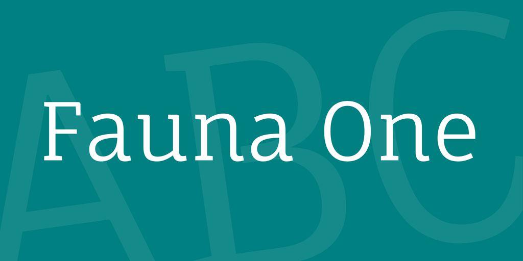 fauna-one-font