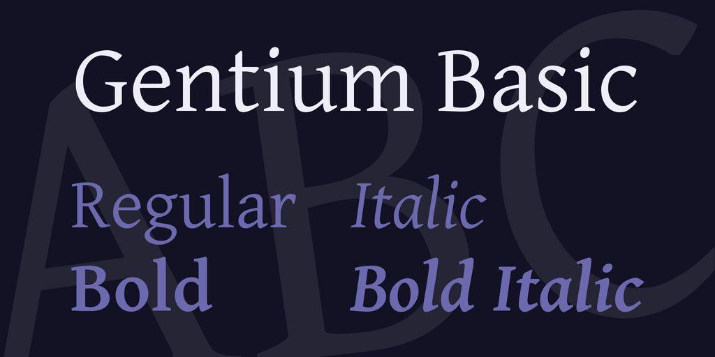 gentium-basic-font