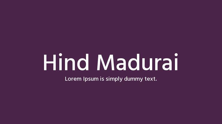 hind-madurai-font