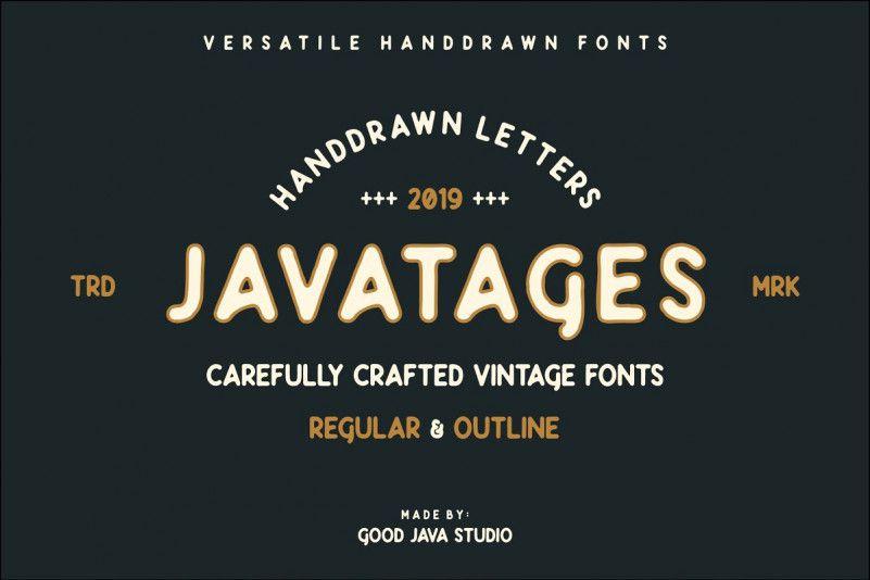 javatages-bold-vintage-font