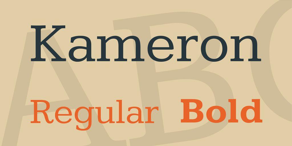 kameron-font