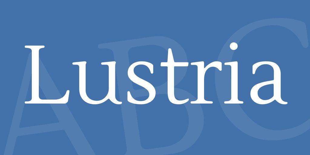 lustria-font