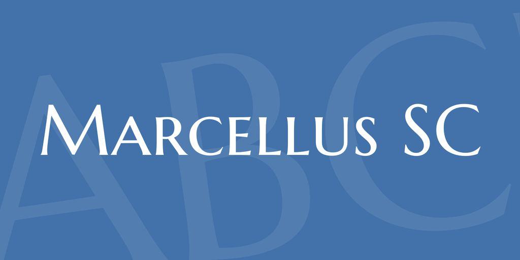 marcellus-sc-font