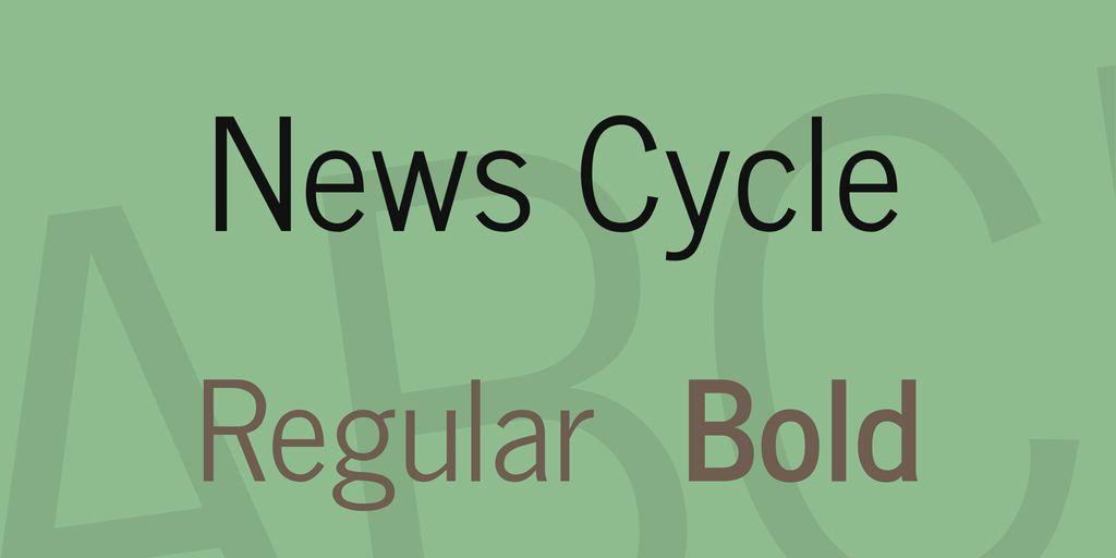 news-cycle-font