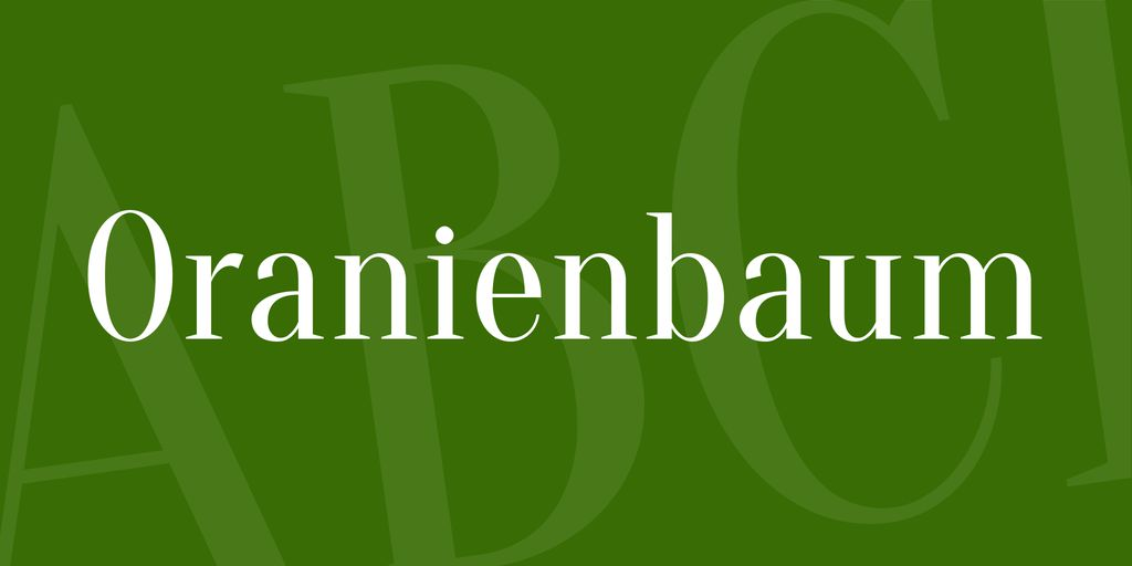 oranienbaum-font