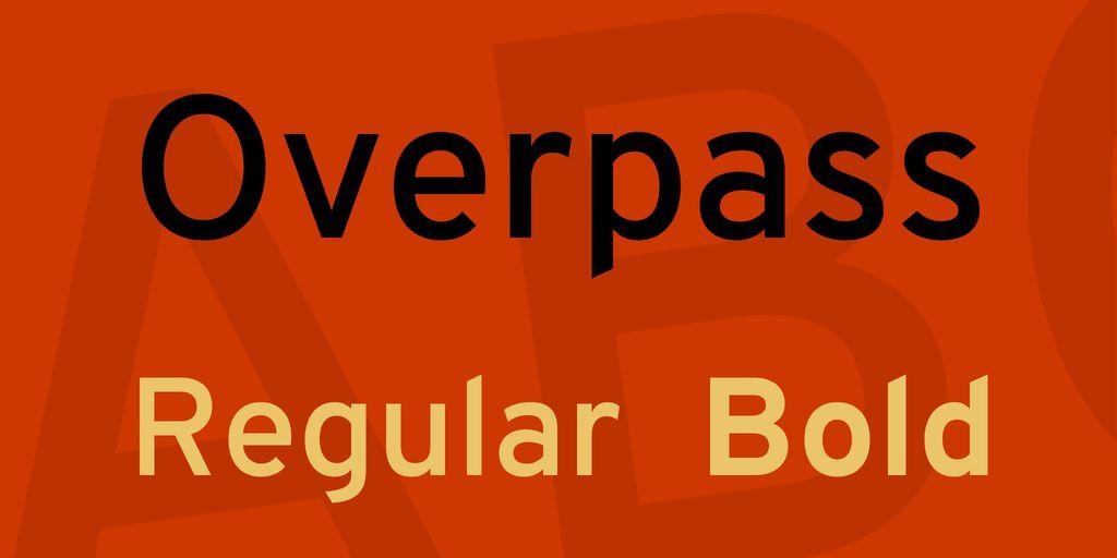 overpass-font