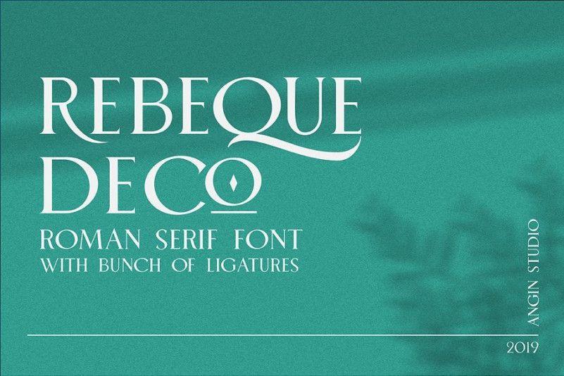 rebeque-deco-serif-font