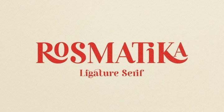 rosmatika-serif-font-family