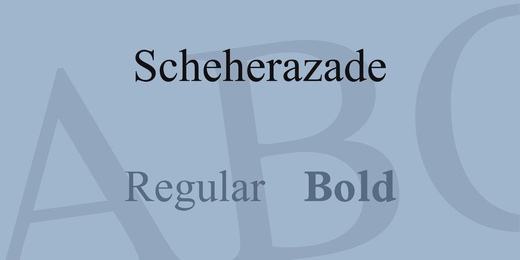 scheherazade-font