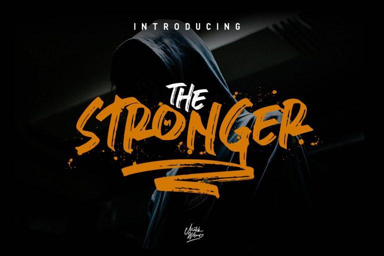 stronger-brush-font