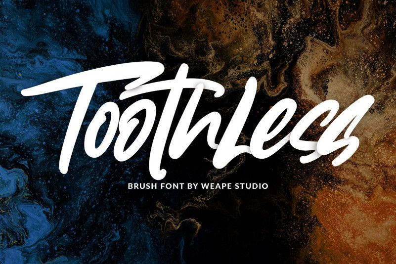 toothless-brush-font-1