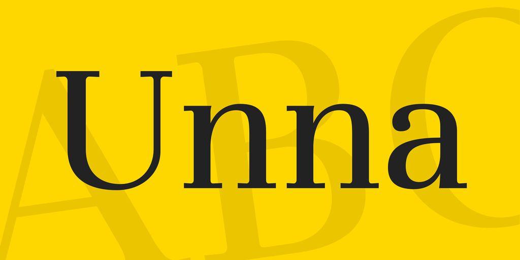 unna-font