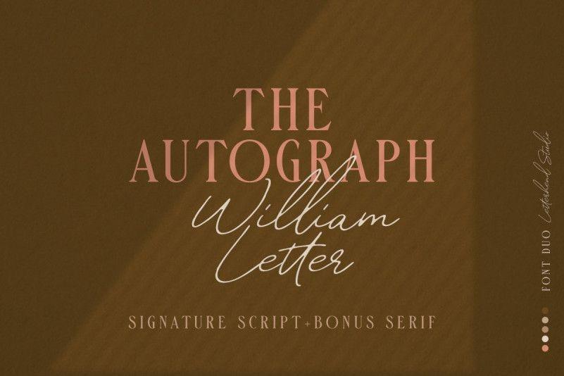 william-letter-signature-font